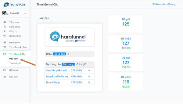 harafunnel chatbot page