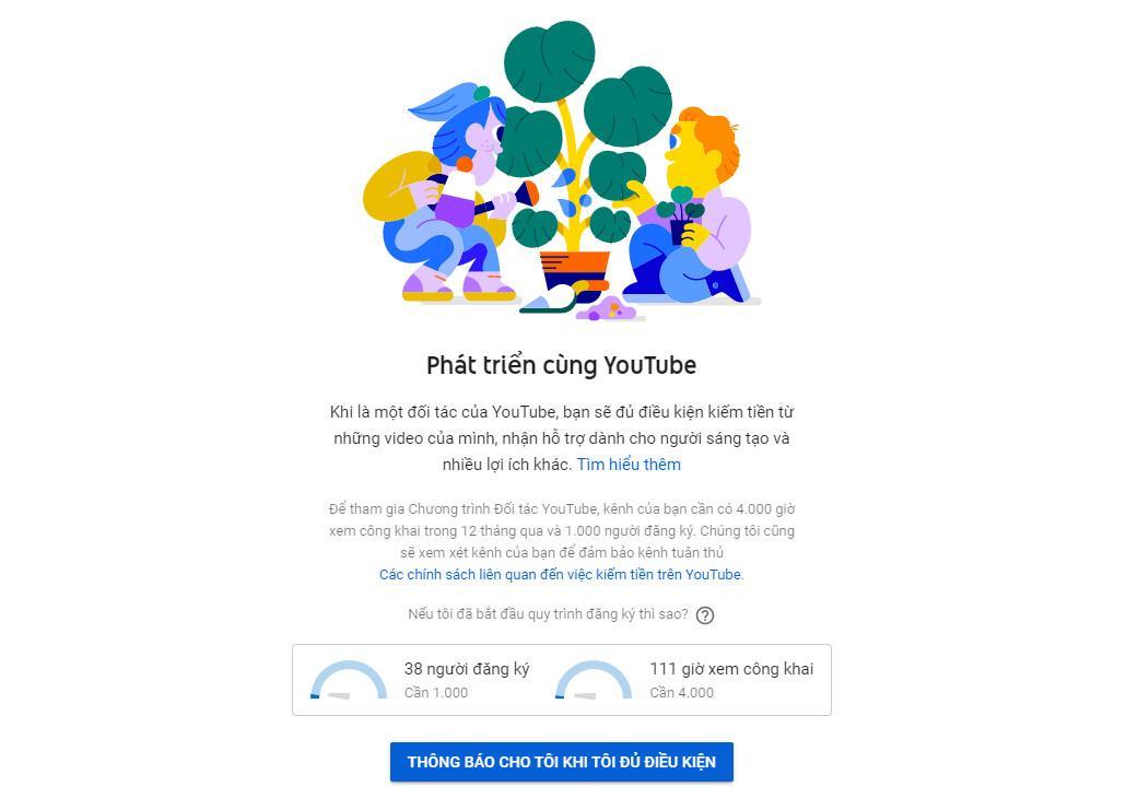 cách tạo tài khoản youtube kiếm tiền 3