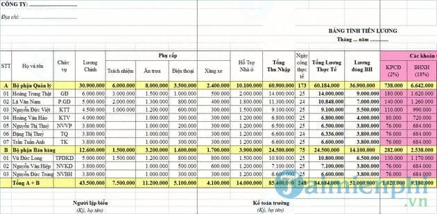 mẫu bảng lương nhân viên kinh doanh1