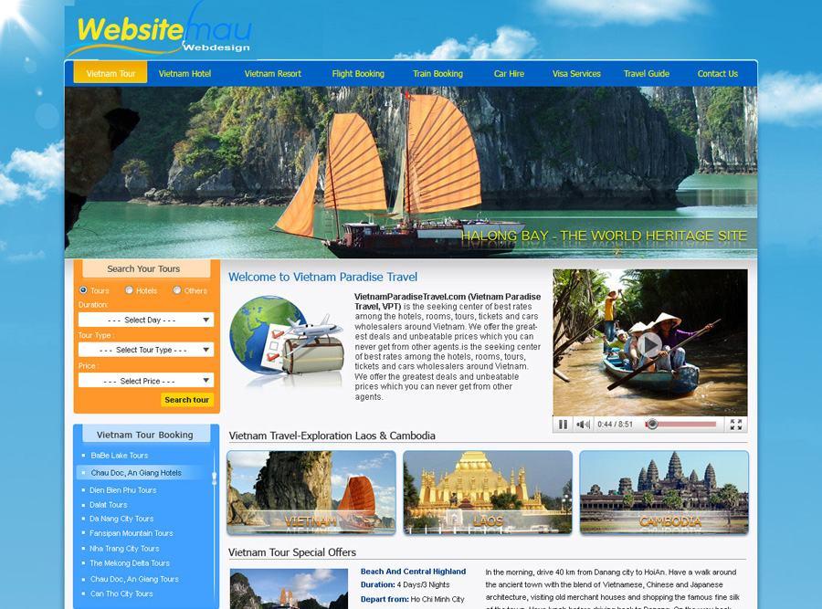 Kết quả hình ảnh cho Website du lịch