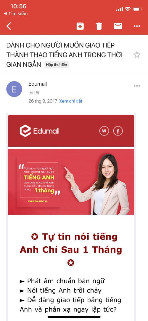 email marketing giao duc