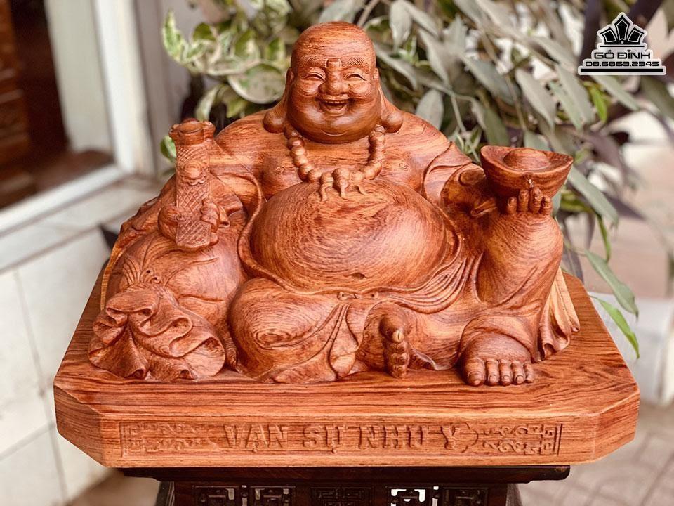Tượng Phật Di Lặc Ngồi Gỗ Hương