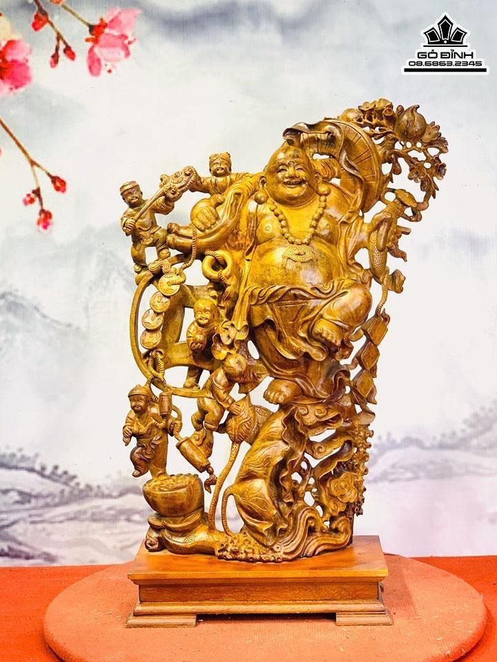 Tượng Phật Di Lặc Ngũ Phúc Gỗ Sụn Hương