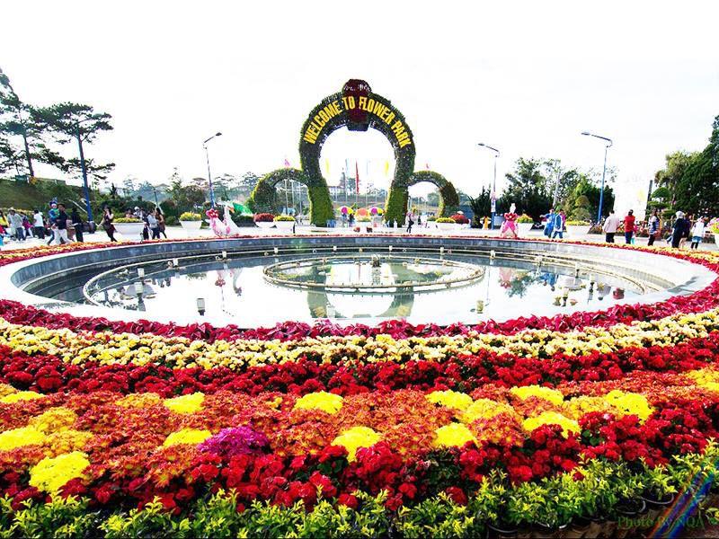 Vườn hoa là địa điểm du lịch nổi tiếng nhất ở Đà Lạt